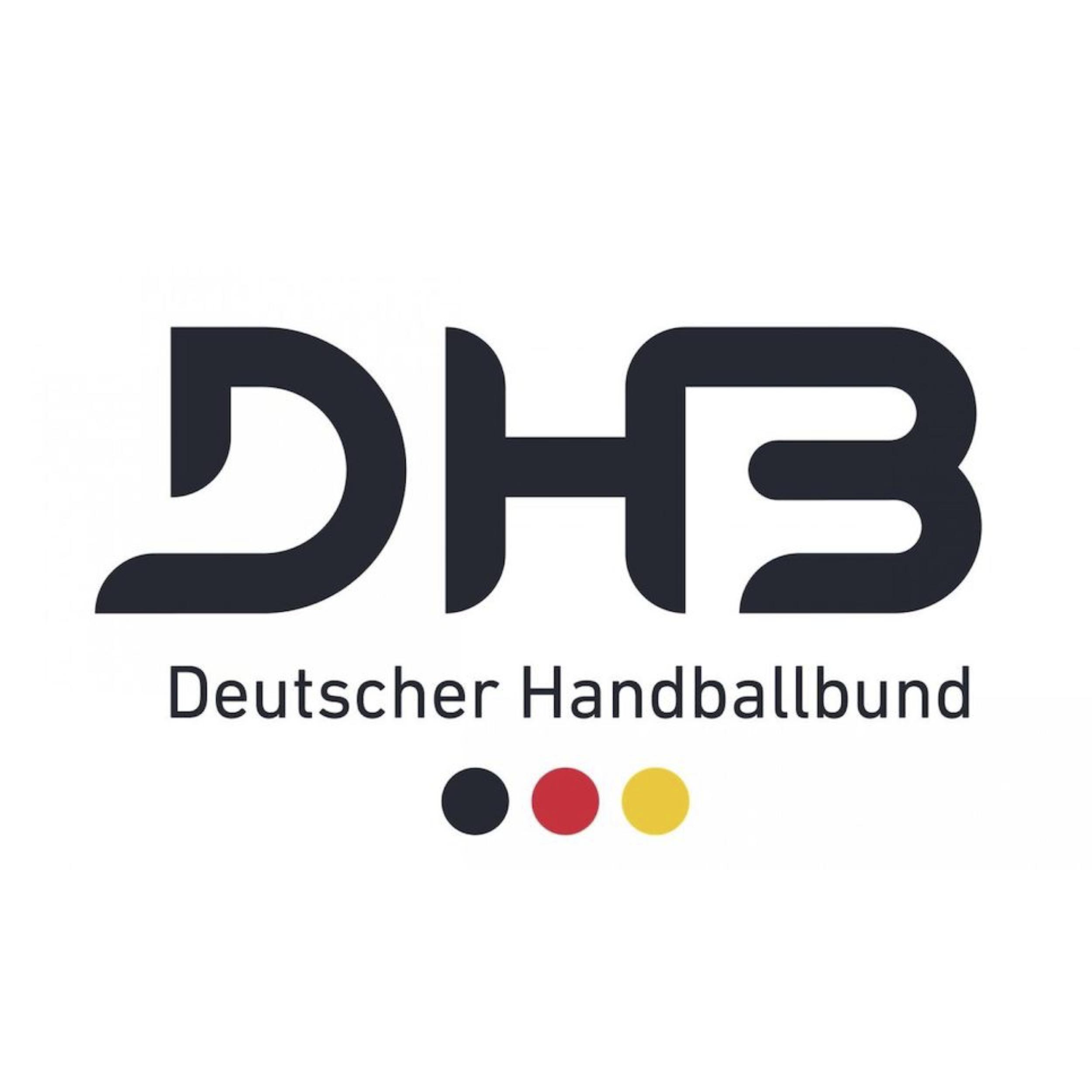 Logo des Deutschen Handballbundes. Veranstaltungen mit Live-Audiodeskription waren ausgewählte Spiele der Handball-WM der Frauen 2017 in Deutschland sowie weitere Länderspiele. Bildrechte Deutscher Handballbund.