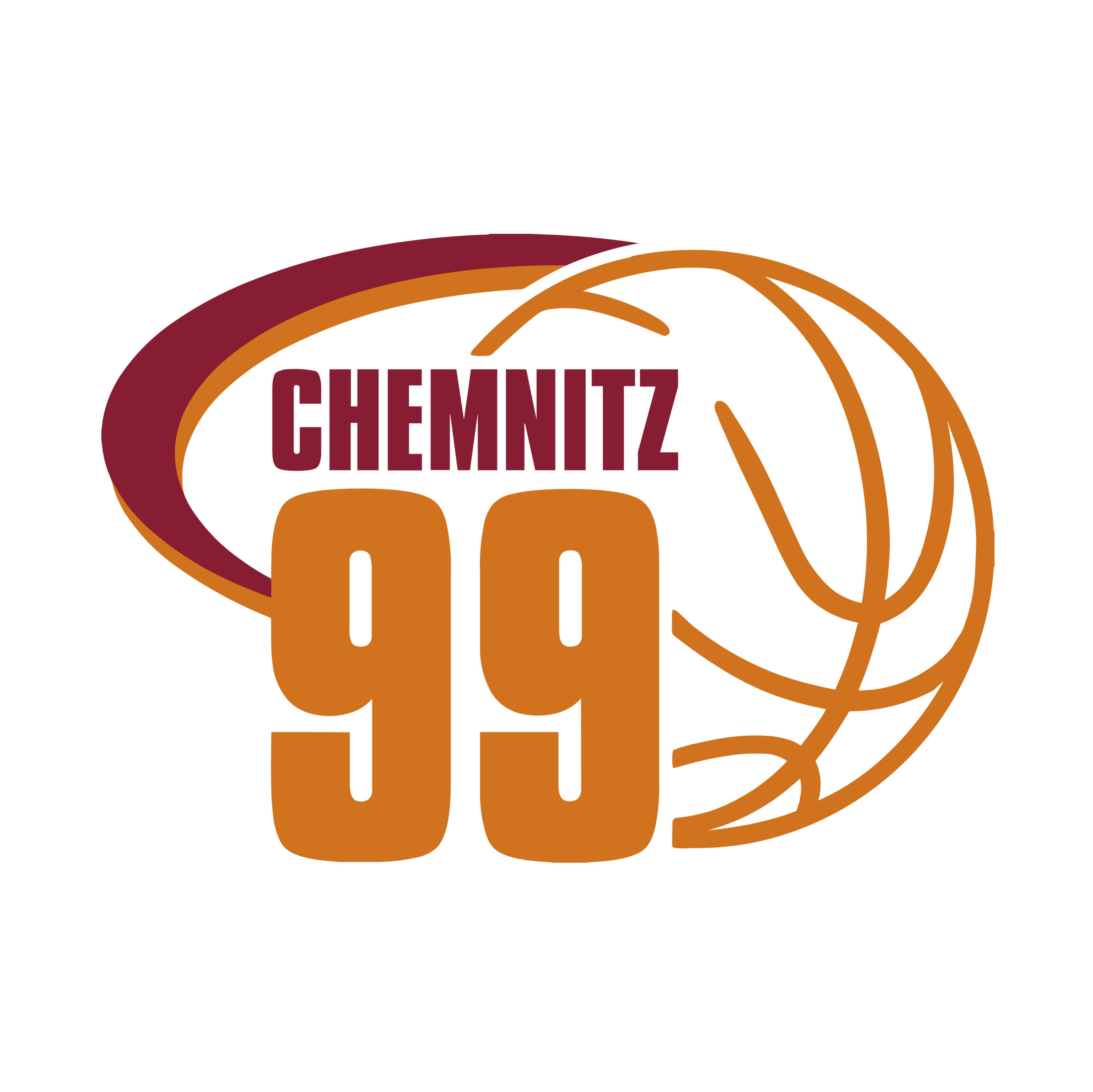 Logo der Niners Chemnitz. Mehrere Heimspiele wurden mit Hilfe von Reporter der gemeinnützige HörMal Audiodeskription Unternehmergesellschaft seit 2018 in der zweiten Basketball-Bundesliga mit einer Live-Audiodeskription angebten. Bildrechte: Niners Chemnitz.