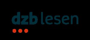 """Das Logo des dzb lesen besteht aus dem dunkelblauen Schriftzug """"dzb lesen"""